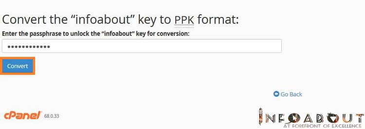 putty convert private key to ppk