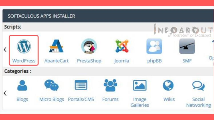 easy step by step ways to install wordpress with softaculous apps installer