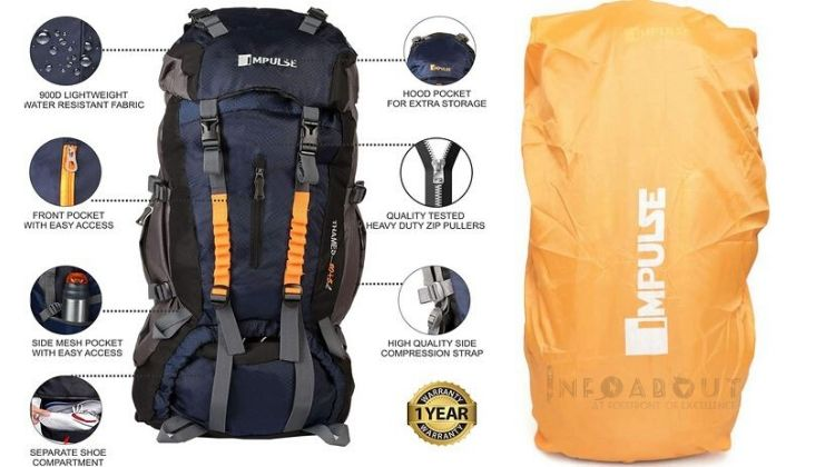 best cheap rucksack bags in india with Water resistant Comes with separate zip pocket for carrying complimentary rain cover rucksack travel bags trekking bags trolley bags