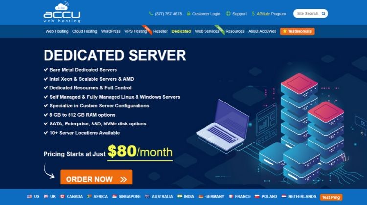 Best Dedicated Server Hosting Provider – AccuwebHosting